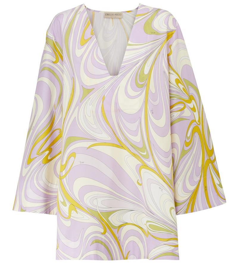 Emilio Pucci Beach Printed cotton kaftan minidress