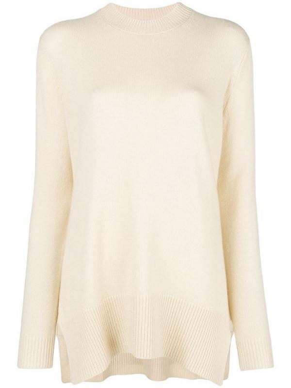 Derek Lam asymmetric crew-neck sweater in neutrals