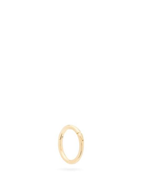 Maria Tash - Clicker 14kt Gold Single Hoop Earring - Womens - Yellow Gold