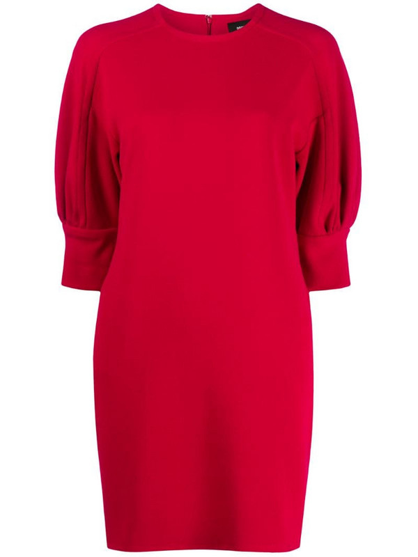 Dsquared2 short sleeve mini dress in red