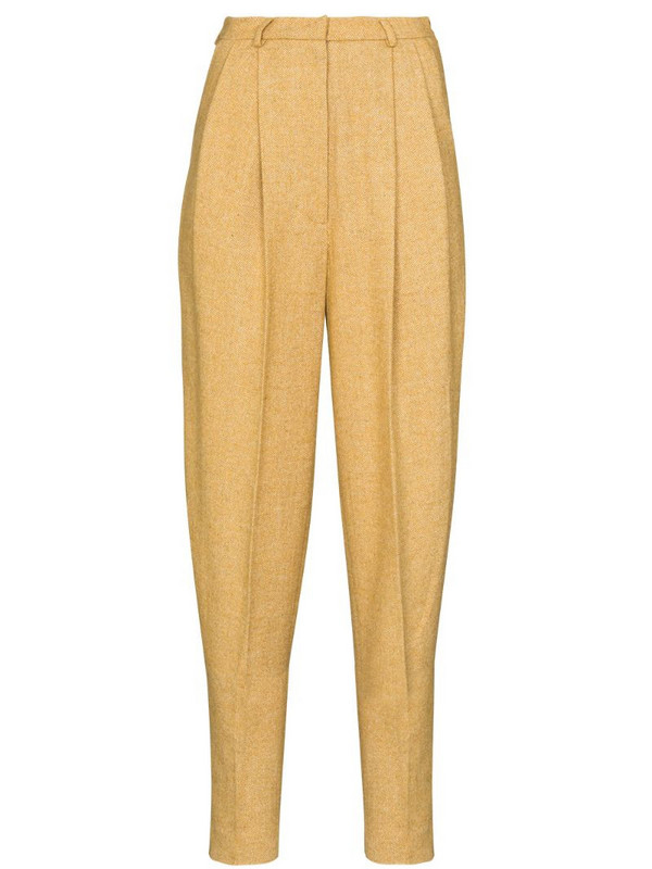 ANOUKI high-waist tapered trousers in yellow