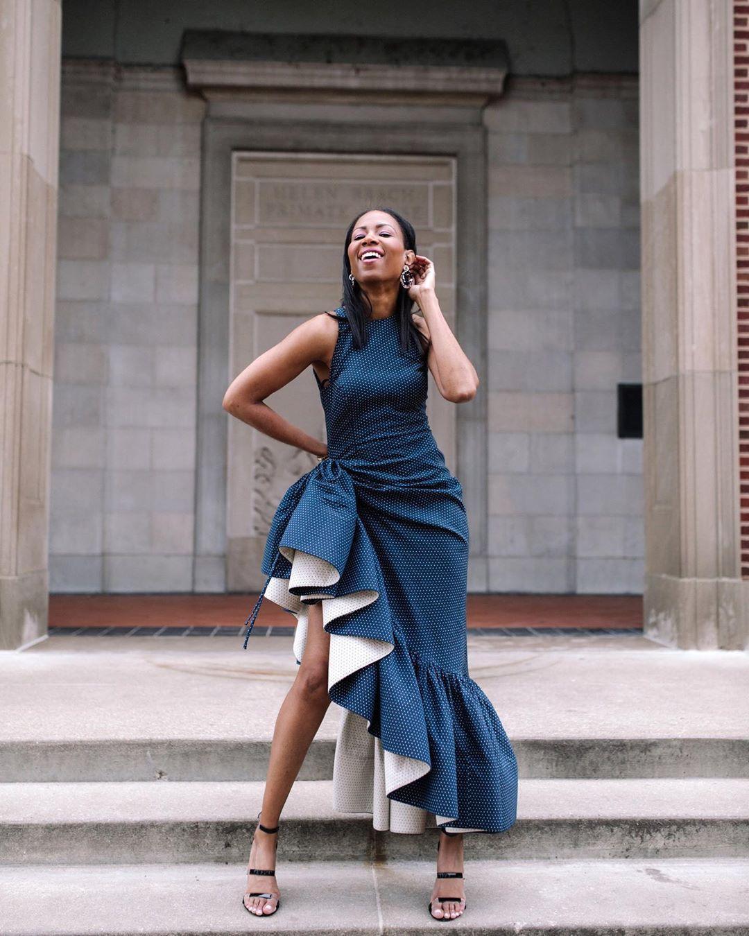 dress asymmetrical dress midi dress ruffle dress sleeveless dress black sandals