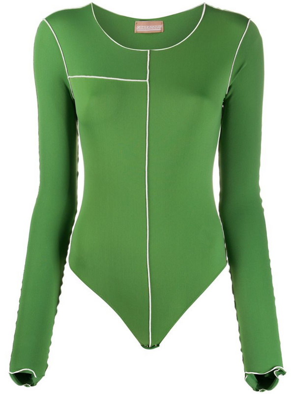 Fantabody round neck performance top in green