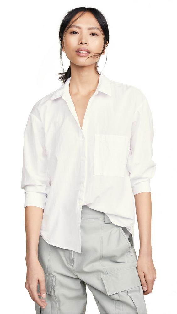 Stateside Oxford Button Down Shirt in white