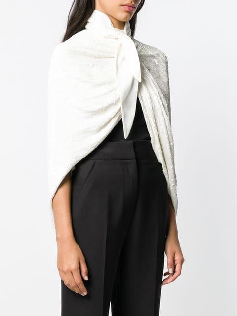 Magda Butrym Sequin Embellished Cape Jacket - Farfetch