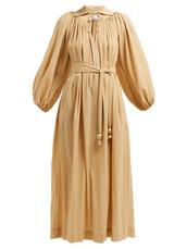 dress,maxi dress,maxi,cotton,beige