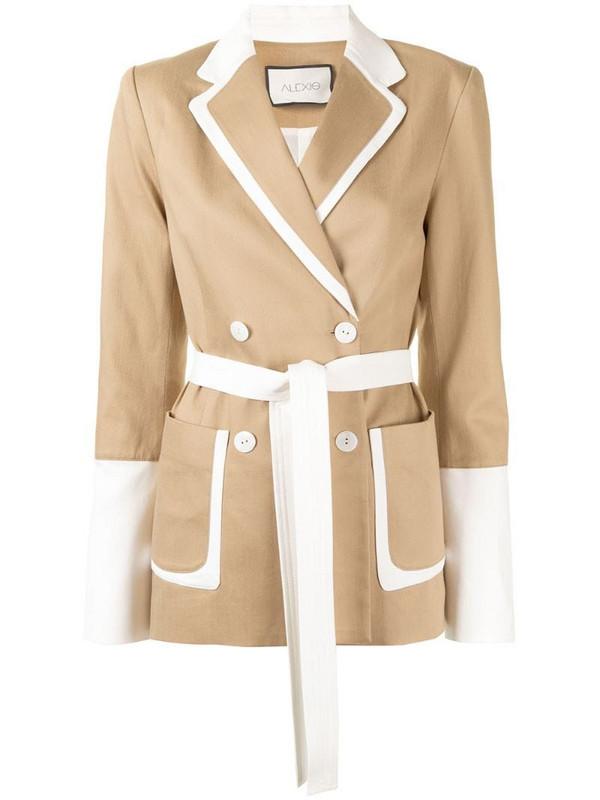 Alexis Baccio two-tone blazer in brown