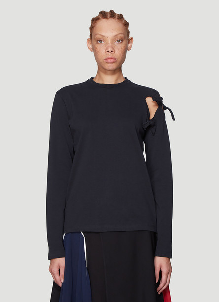 JW Anderson Knot Detail Long Sleeve T-Shirt in Black size L