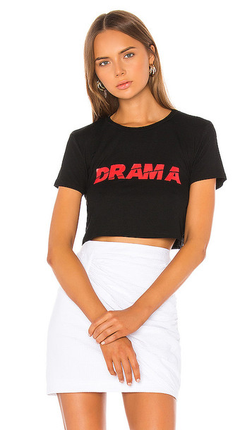 superdown Brittany Cropped T Shirt in Black