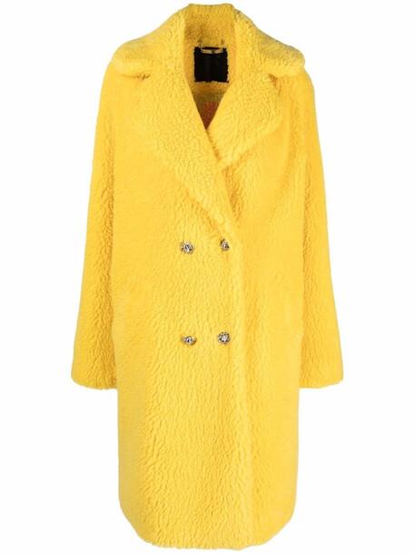Philipp Plein Iconic long shaggy coat - Yellow