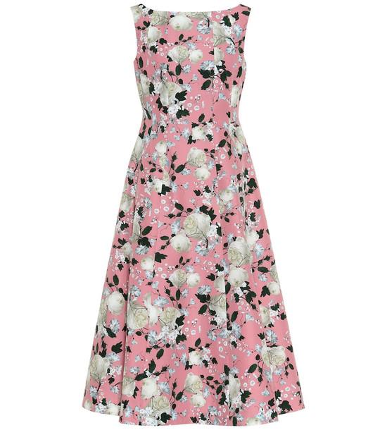 Erdem Kinsey floral cotton midi dress in pink