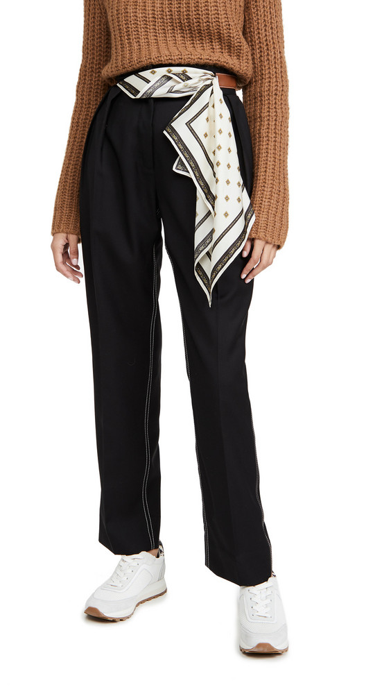 By any Other Name Scarf Belt Trousers in black