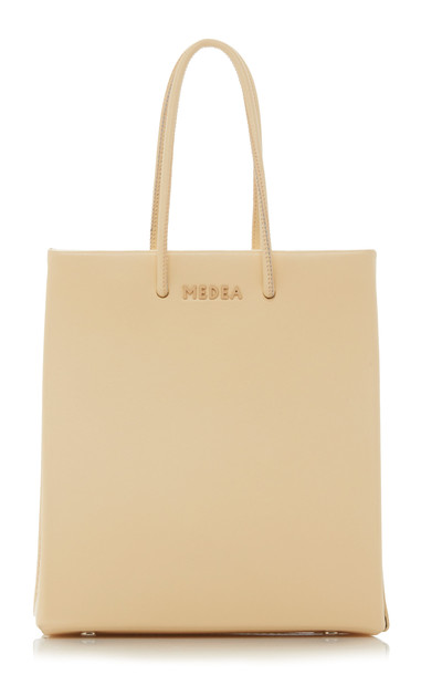 Medea Short Leather Tote in neutral