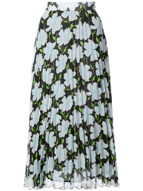 Off-White floral print skirt in black