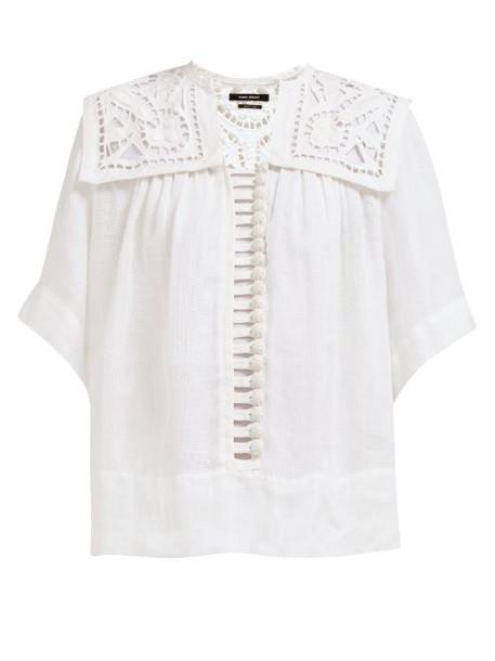 Isabel Marant - Gane Button Down Macramé Lace Blouse - Womens - White