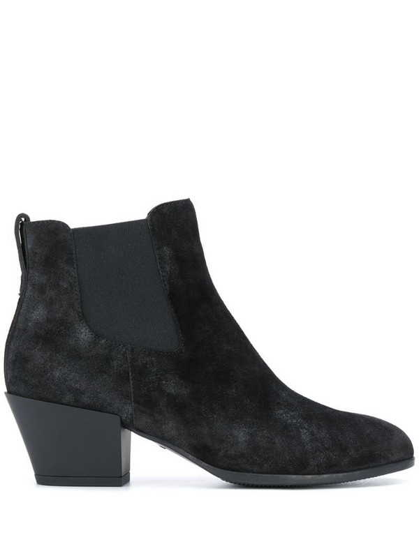 Hogan suede ankle boots in black