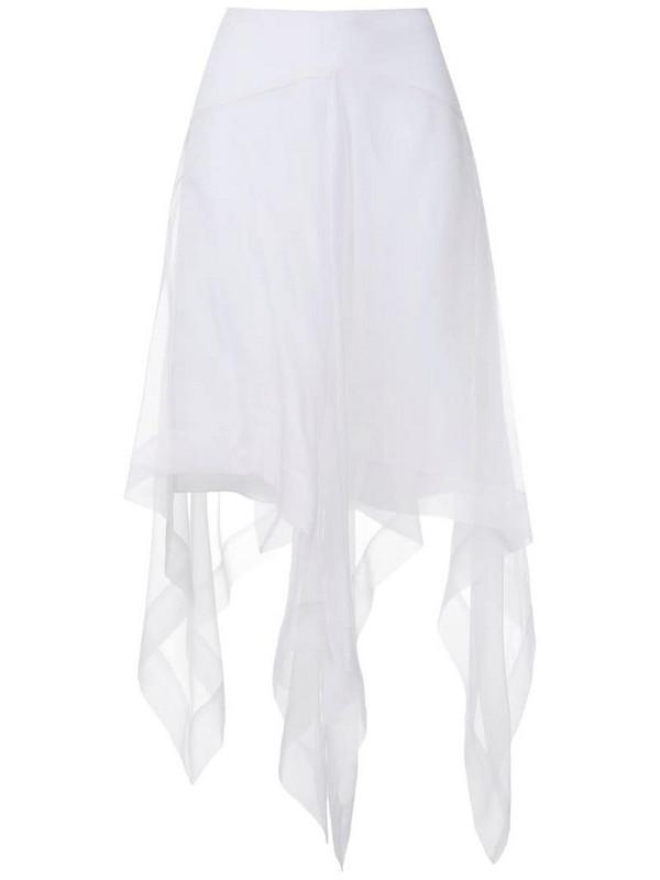 Uma - Raquel Davidowicz Mentor silk midi skirt in white