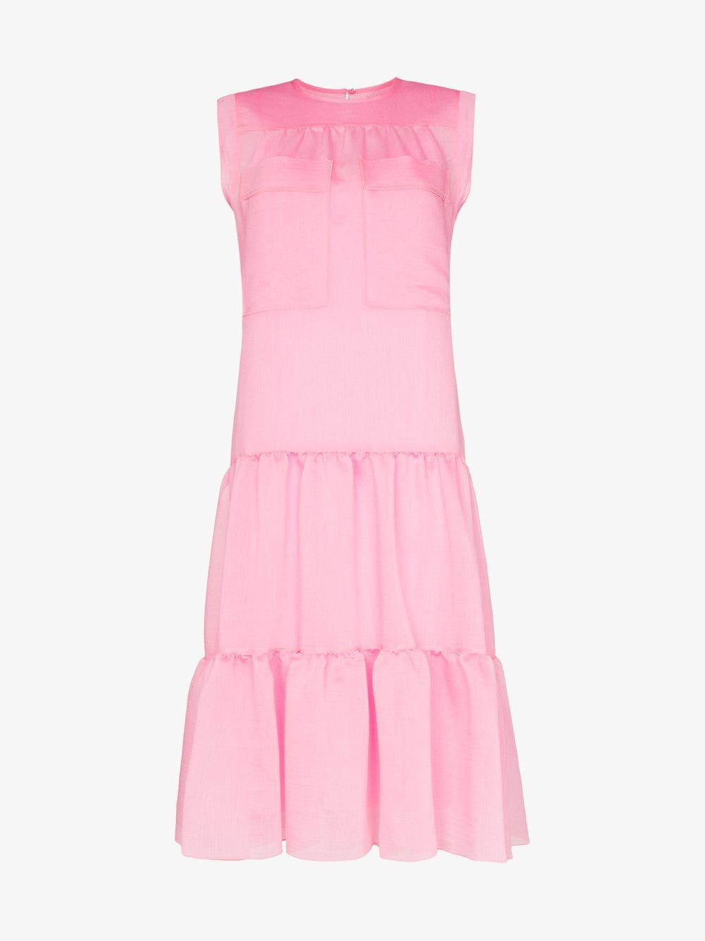 See By Chloé See By Chloé tiered sleeveless midi dress in pink