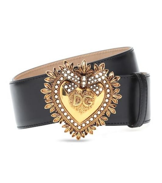Dolce & Gabbana Devotion leather belt in black