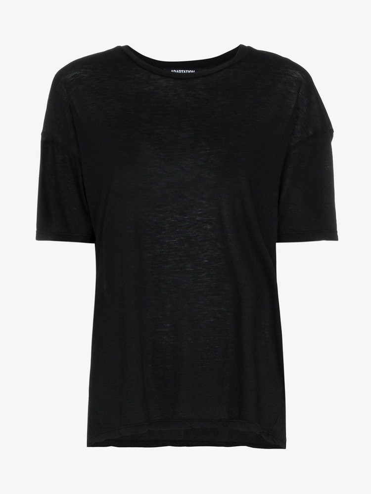Adaptation Skeleton City of Angels cotton and cashmere tee in black