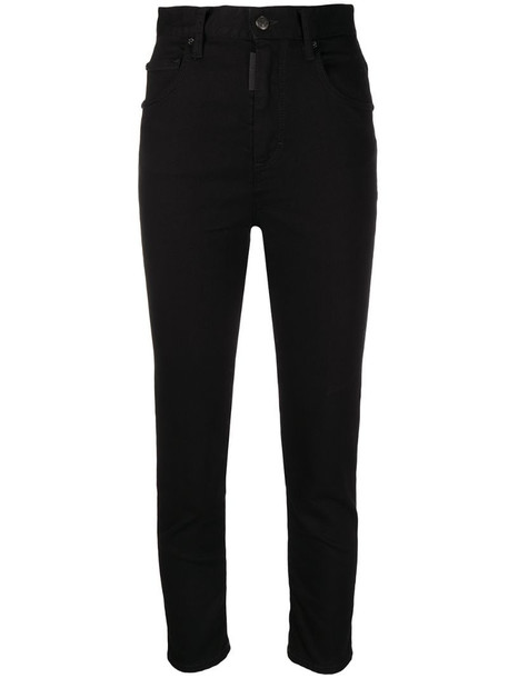 Dsquared2 high-rise cropped jeans in black