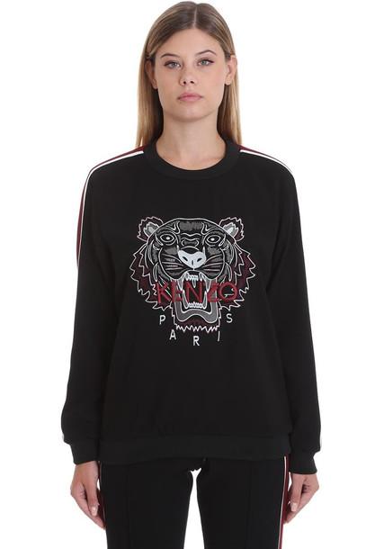 Kenzo Sweatshirt In Black Tech/synthetic