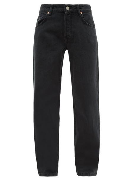 Raey - Opa Baggy Boyfriend Jeans - Womens - Black