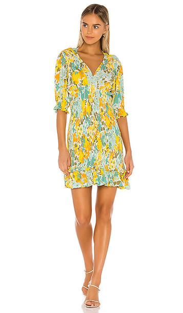 FAITHFULL THE BRAND Margherita Mini Dress in Yellow