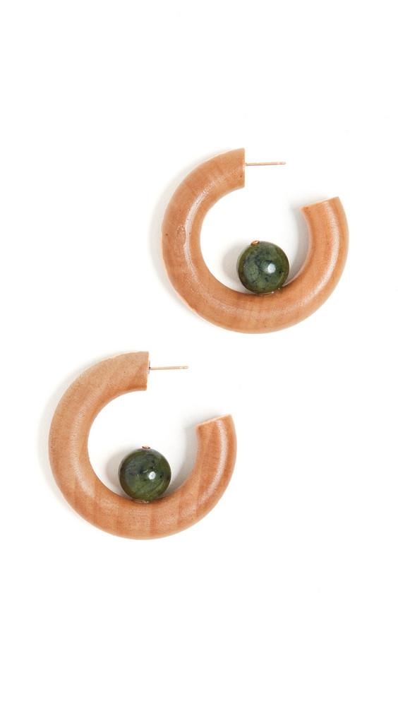 Sophie Monet Verde Hoop Earrings in multi