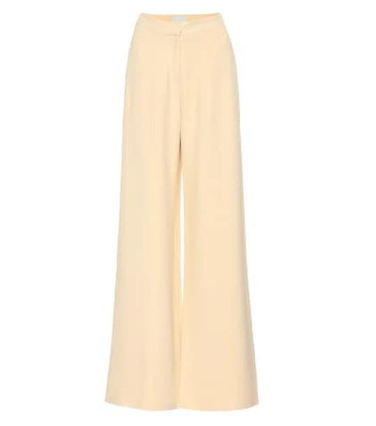 Arjé Franci crêpe wide-leg pants in white