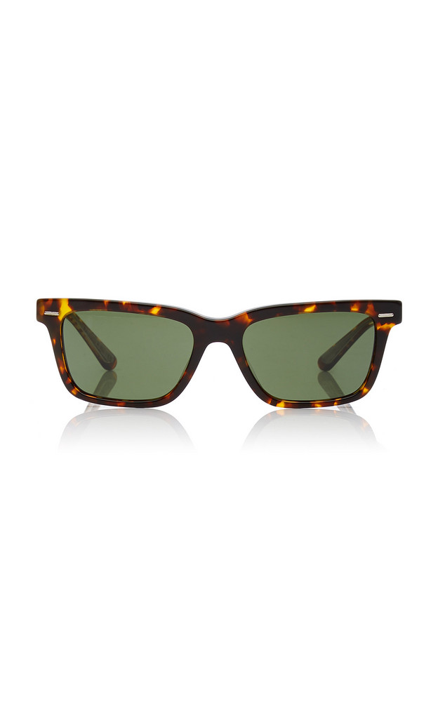 Oliver Peoples THE ROW Tortoise BA Square Sunglasses in brown