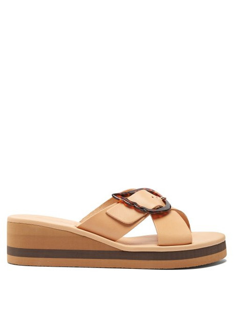 rainbow wedges leather wedges leather tan shoes