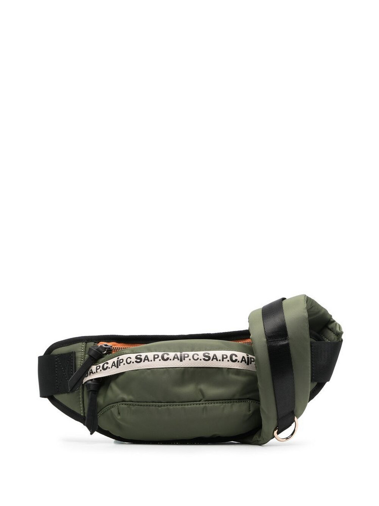 A.P.C. A.P.C. logo-print belt bag - Green