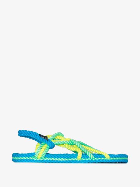 NOMADIC STATE OF MIND neon blue Toe Joe rope sandals