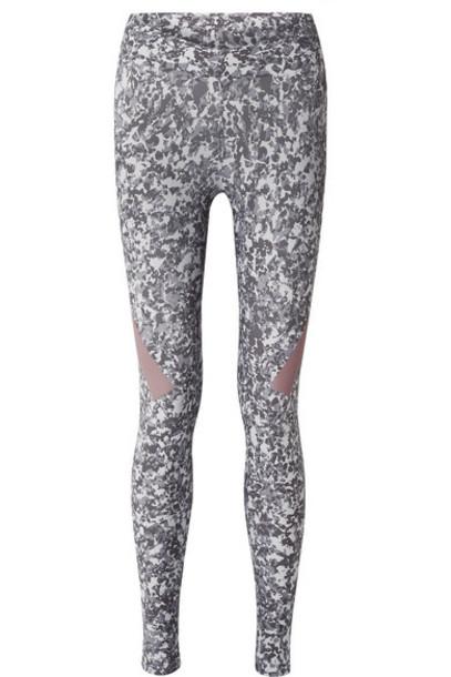 adidas by Stella McCartney - Alphaskin 360 Printed Climachill Stretch Leggings - Gray