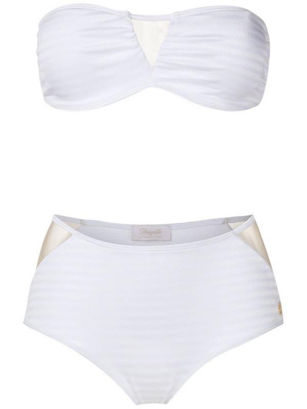 Brigitte Jade high waisted bikini set in white