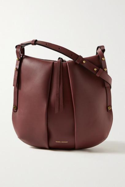 Isabel Marant - Lecky Leather Shoulder Bag - Claret