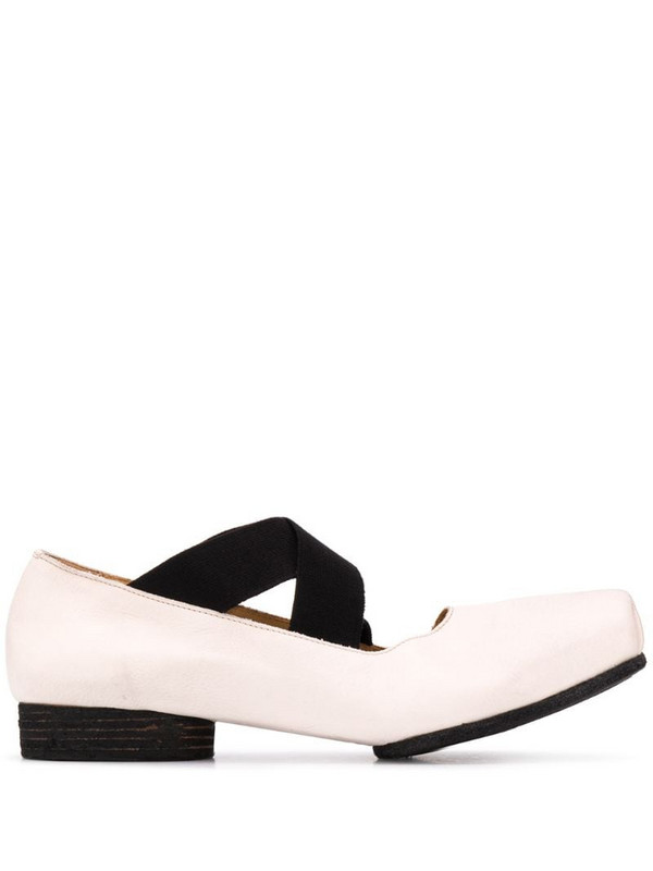 Uma Wang strappy heeled ballerina shoes in neutrals