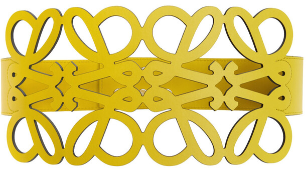 Loewe Anagram Cut-Out Belt in yellow