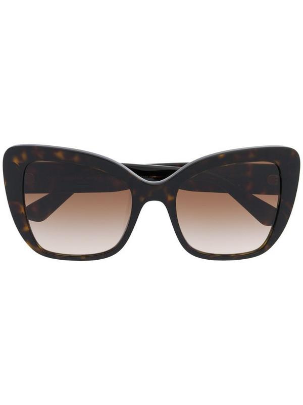 Dolce & Gabbana Eyewear tortoiseshell oversized sunglasses in brown