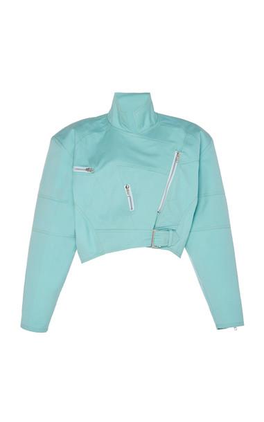 Marta Jakubowski Lola Wool Croped Jacket Size: XS in blue