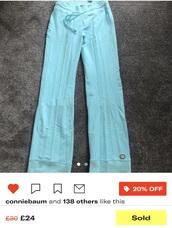 pants,nike,wide-leg pants,turquoise,joggers
