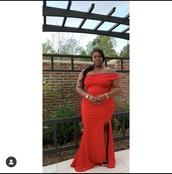 dress,off shoulder front slit  plus size  formal dress