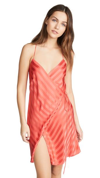 Michelle Mason Slit Mini Dress