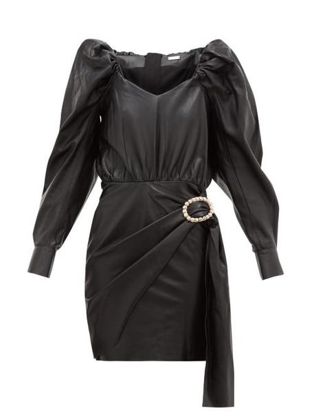 Dodo Bar Or - Mona Crystal Buckle Leather Dress - Womens - Black