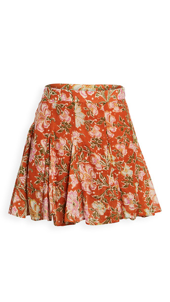Free People End Of The Island Godet Skirt