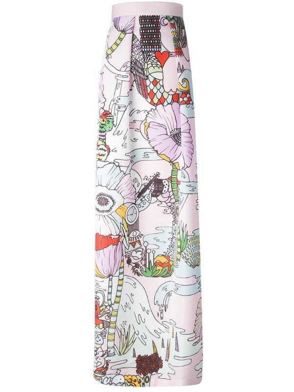 Mary Katrantzou 'Midlar' long skirt in pink