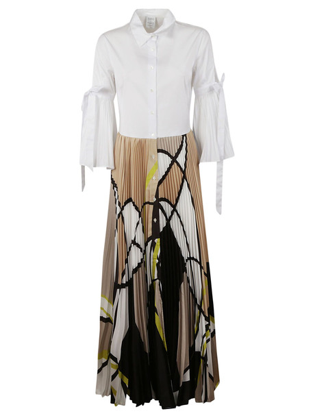 Sara Roka Printed Shirt Dress in white