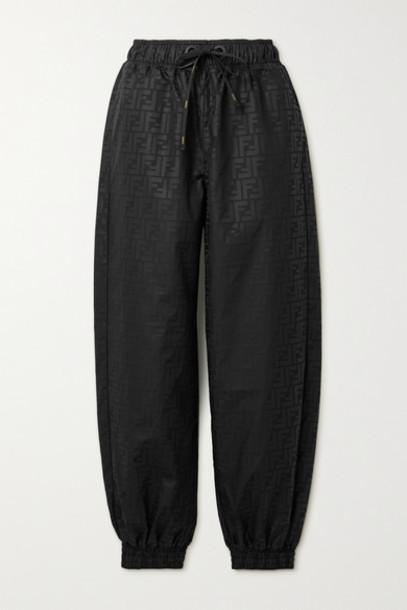 Fendi - Printed Shell Track Pants - Black