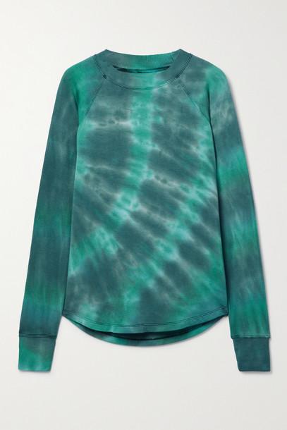 SPLITS59 - Warm Up Tie-dyed Stretch-modal Sweatshirt - Green